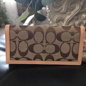 Authentic Coach check book holder